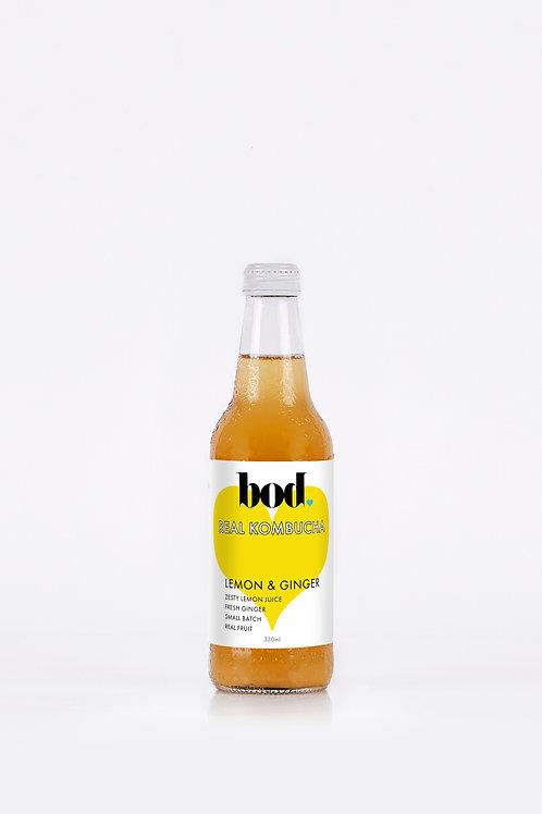 Kombucha - Lemon & Ginger (case of 12 x 330 mL)