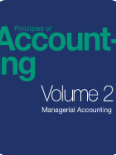 Principles of Accounting Volume 2: Managerial Accounting