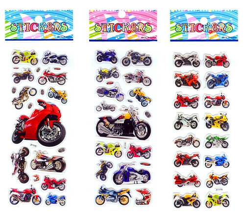 3D MOTORCYCLE STICKERS