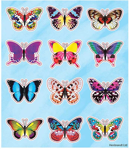 BUTTERFLY FUN STICKERS