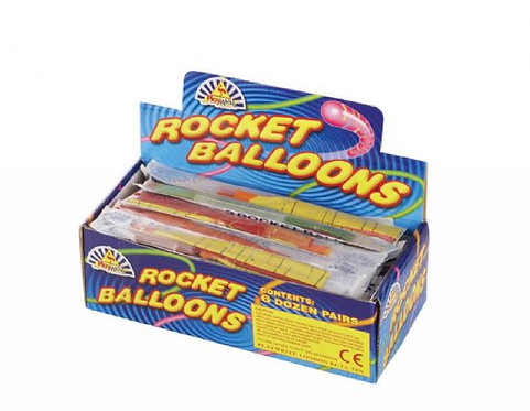PACK OF 2 ROCKET BALLOONS