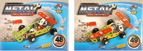 TWIN PACK RACING CAR DIY METAL KITS (48 & 49 pcs)