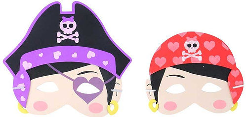 CHILDREN'S EVA PIRATE GIRL MASK