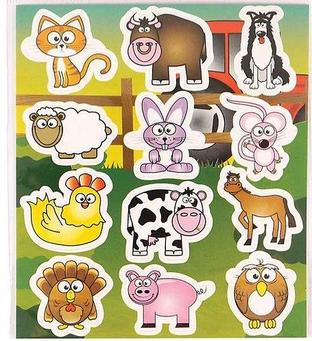 FARM ANIMAL FUN STICKERS