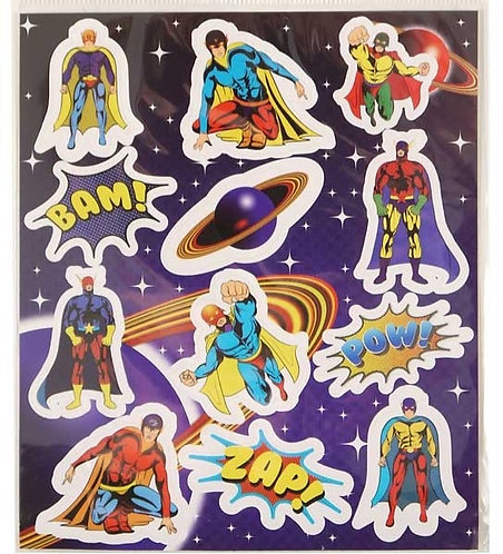 SUPER HERO FUN STICKERS