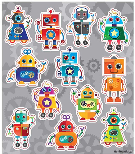 ROBOT FUN STICKERS