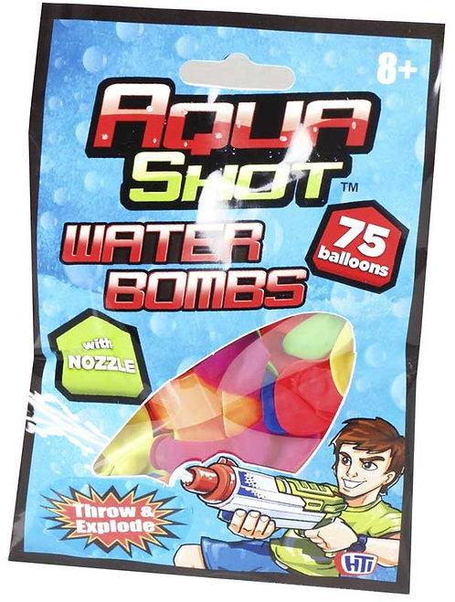AQUA SHOT WATER BOMBS WITH NOZZLE
