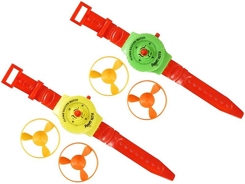 TOY WATCH WITH 2 FLYING DISCS