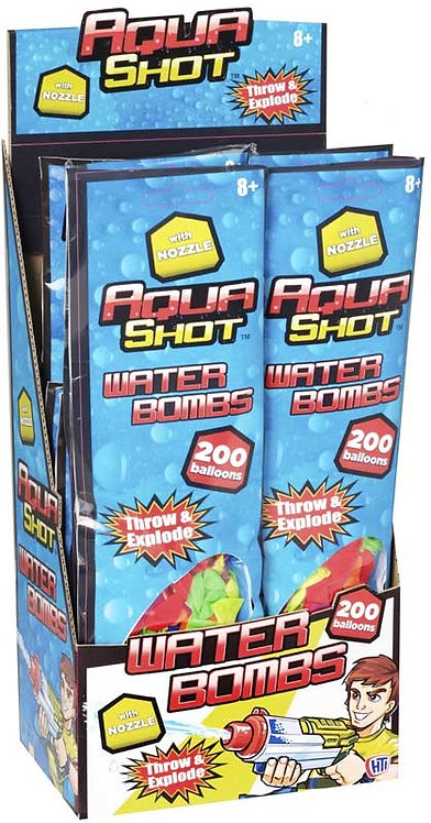AQUA SHOT 200 WATER BOMBS WITH NOZZLE