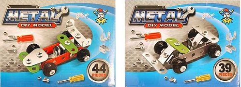 TWIN PACK RACING CAR DIY METAL KITS (39 & 44 pcs)