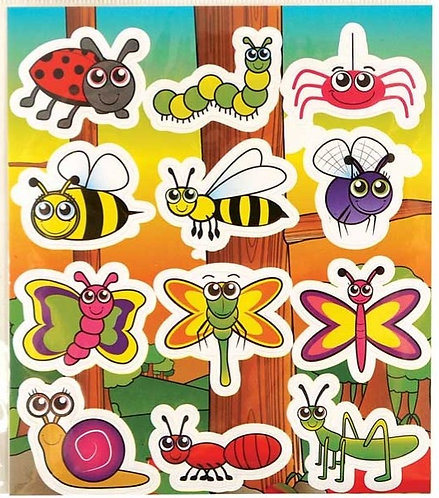 INSECT FUN STICKERS