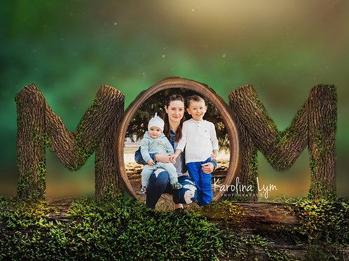 Mom forest Digital image
