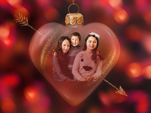Valentines day Digital ornament photo
