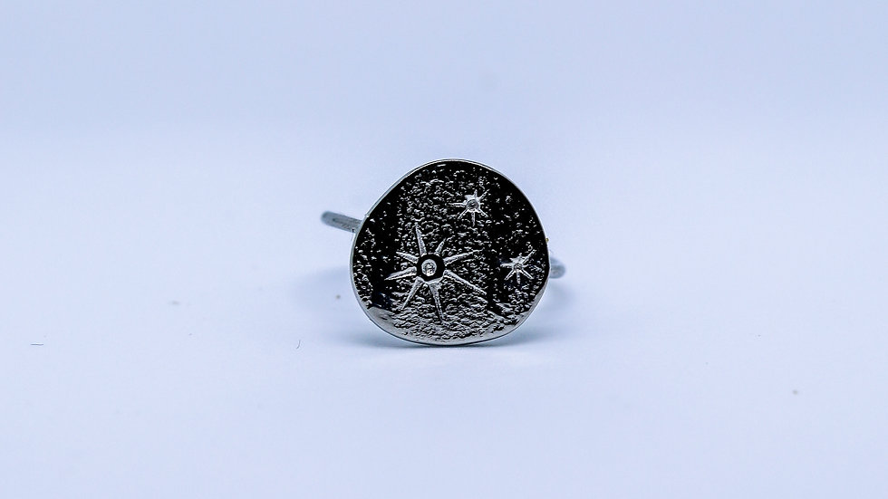 silver constelation ring