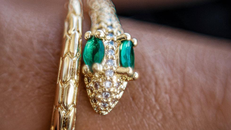 snake green ring