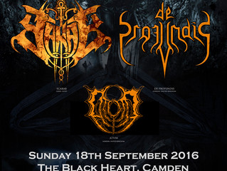 SCARAB + DE PROFUNDIS @ The Black Heart, London