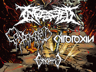 Ingested / Condemned / Cytotoxin / Carnophage at Boston Music Room, London