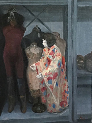 Higo Mannequins and a Japanese Doll