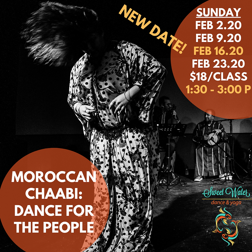Sundays: Moroccan Chaabi Dance for the People @ Sweet Water Dance and Yoga