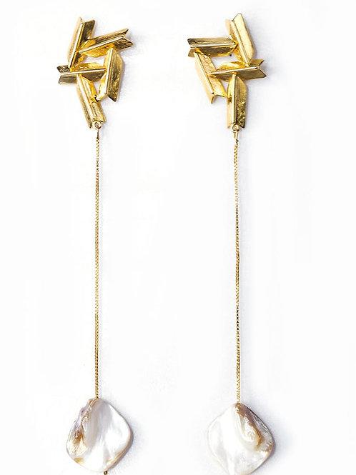 Zentangle Drop Earring