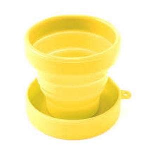 Copo ecológico de silicone amarelo