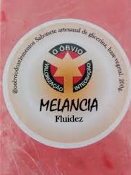 Sabonete artesanal de melancia (fluidez)