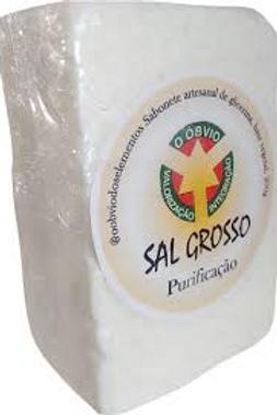 Sabonete artesanal de sal grosso (purificação)