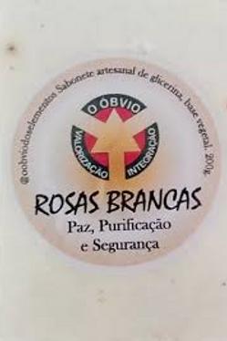 Sabonete artesanal de rosas brancas (paz, purificação e segurança)