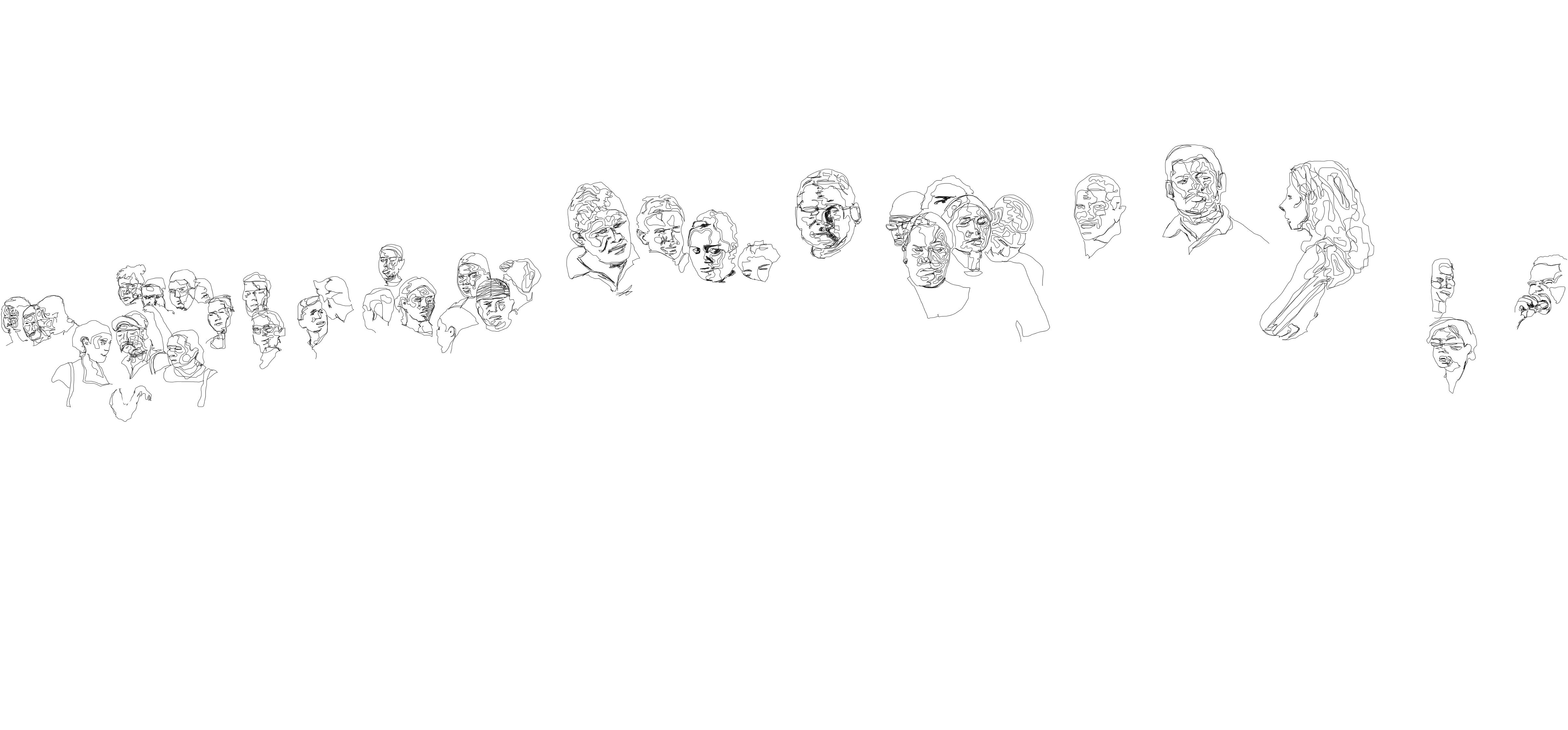 caras de una parada