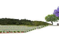 borde urbano huerto y bosque de frutales