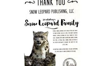 We Adopted a Snow Leopard Family!