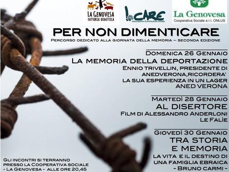 Per non dimenticare - percorso dedicato alla giornata della Memoria - Seconda edizione