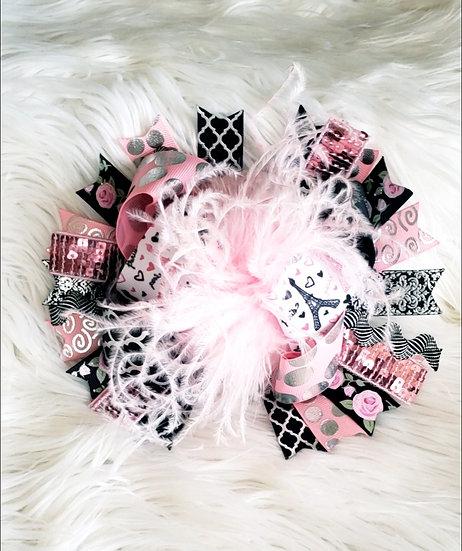 Pink Paris Fur Bow