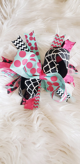 Pink/Black Bow