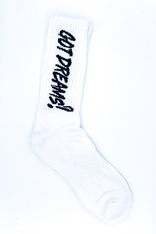 White/Black Crew Socks