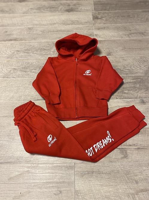 Youth Dreamer Jogger Set (Red)