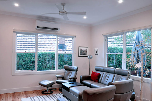 Enlarged windows in Family room