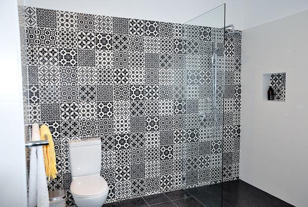 Bathroom feature tiles