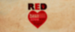 Heart with word cloud showing terms associated with the colour red