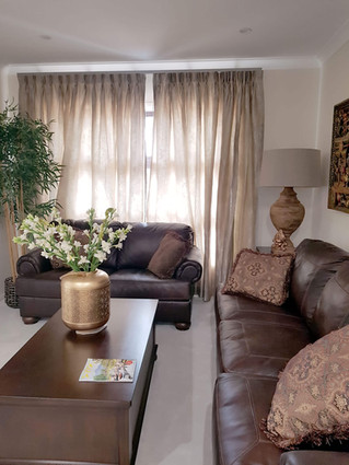 Formal sitting room curtains