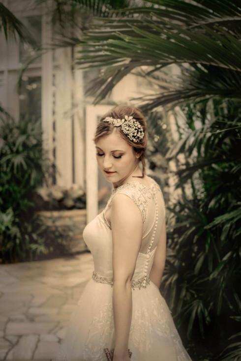 Vintage style bridal portrait