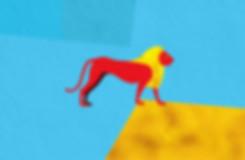 Pop art style ancient Egyptian lion design