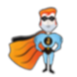 Jawman satirical superhero comic style character