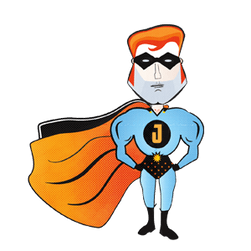 Jawman satirical superhero comic style character