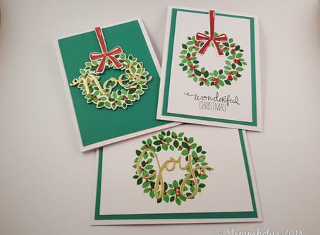 Christmas Wreath Cards