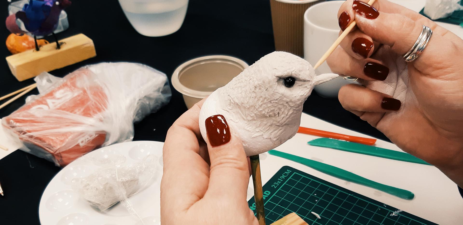 Creating Bird Sculpture