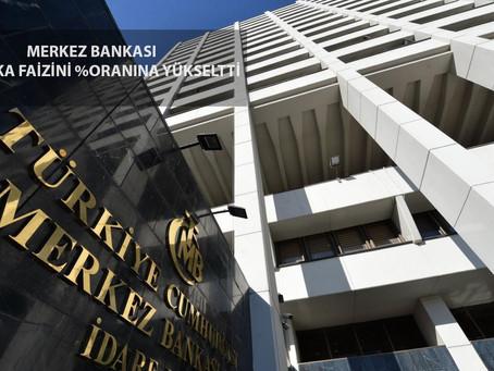Merkez Bankası Politika Faizini %17 Oranına Yükseltti
