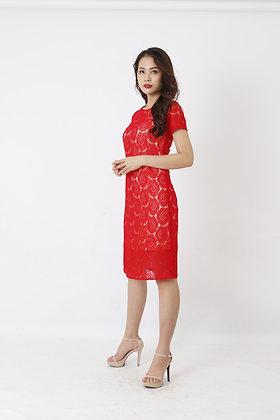 Váy ren đỏ