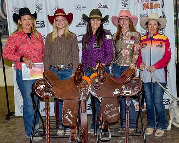 Open Average Burns Saddle Champions 1-D
