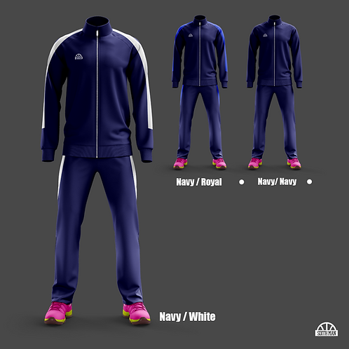 Travel / Warm Up Tracksuit - NAVY